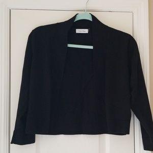 Calvin Klein Black Bolero Sweater